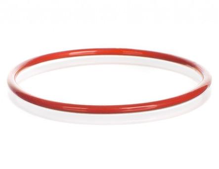 Красное силиконовое уплотнительное кольцо с покрытием ФЭП, DN60