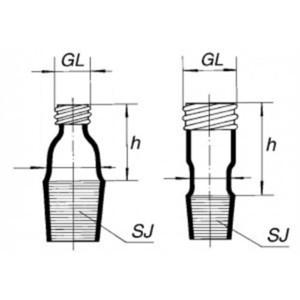 Соединитель (адаптер) шлиф-резьба, 24/29-GL14
