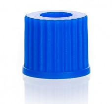 Крышка винтовая синяя, GL 14, с отверстием 9,5 мм