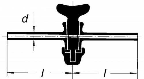 Кран одноходовой, отверстие 6 мм, D 13 мм