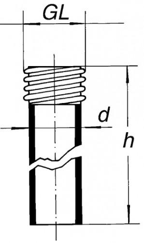 Соединительная трубка с резьбой GL 45