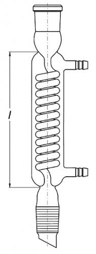 Холодильник спиральный, 400 мм, 29/32