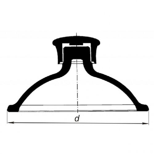 Крышка для эксикатора, 250 мм, с пластмассовой ручкой