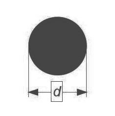 Палочка стеклянная Simax, диаметр 38 мм