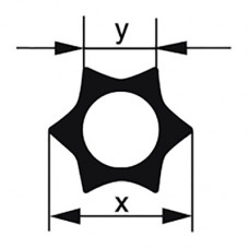 Профильная трубка Simax «Звезда», 6 лучей, диаметр наружн. 19 мм, внутр. 9,1 мм