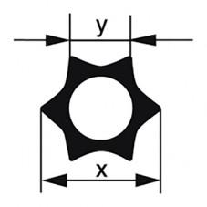 Профильная трубка Simax «Звезда», 6 лучей, диаметр наружн. 20 мм, внутр. 9,5 мм