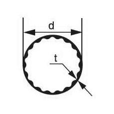 Стеклянная трубка Simax, внутренний профиль, диаметр 38 мм