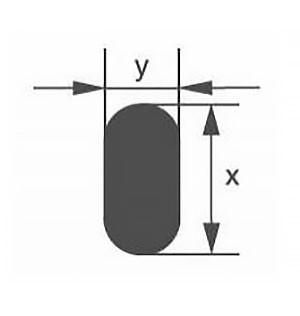 Стеклянная палочка овального сечения Simax, 11х5 мм