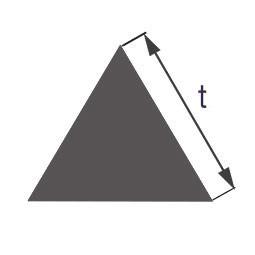 Стеклянная палочка треугольного сечения Simax, длина сторон по 7 мм