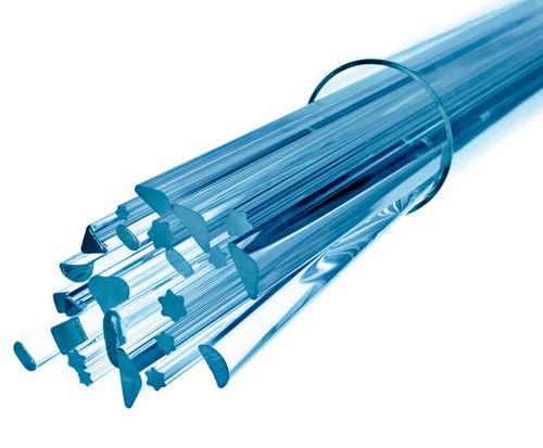 Стеклянная палочка треугольного сечения Simax, длина сторон по 8 мм