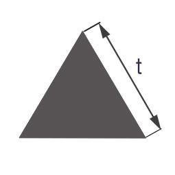 Стеклянная палочка треугольного сечения Simax, длина сторон по 10 мм
