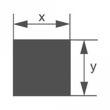 Стеклянная палочка прямоугольного сечения Simax 14,6х11 мм