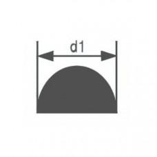 Стеклянная палочка полукруглого сечения Simax, диаметр 8 мм