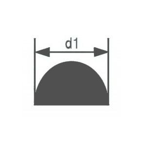 Стеклянная палочка полукруглого сечения Simax, диаметр 15 мм