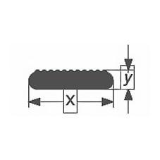 Стеклянная палочка зубчатого сечения Simax, 18х6,2 мм
