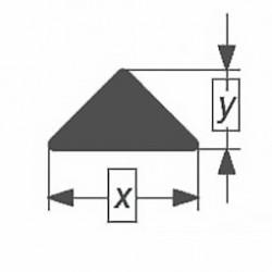 Стеклянная палочка треугольного сечения Simax, 20х8 мм