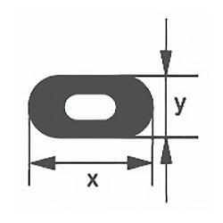 Капиллярная профильная трубка Simax, 17х4,5 мм, внутренний диаметр 1,5 мм