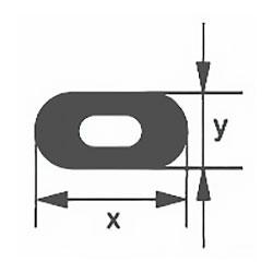 Капиллярная профильная трубка Simax, 18х4,8 мм, внутренний диаметр 1,5 мм