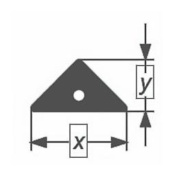 Капиллярная профильная трубка треугольного сечения Simax, 21х5,5 мм