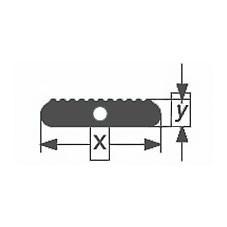 Капиллярная профильная трубка зубчатого сечения Simax, 20х6,3 мм
