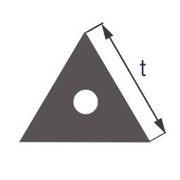 Капиллярная профильная трубка треугольного сечения Simax, длина стороны 9 мм